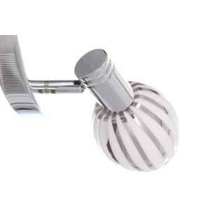 REX-4 chrom lampa ścienna spot klosz szklany