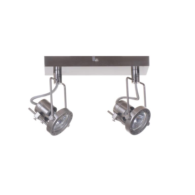 ROBOT-2 satyna loft lampa sufitowa spot 2xGU10