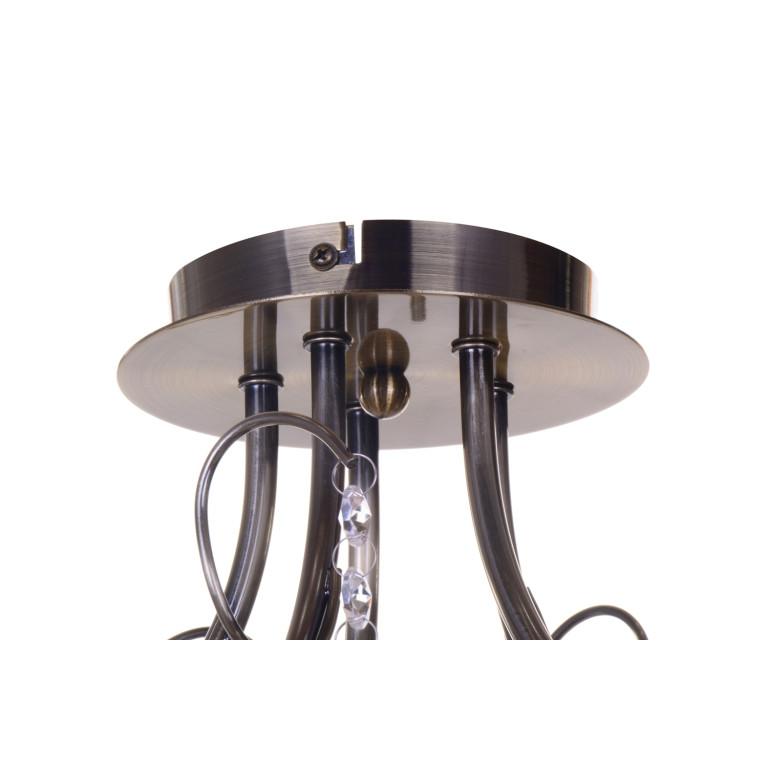 RODEZ-5 antique brass lampa żyrandol