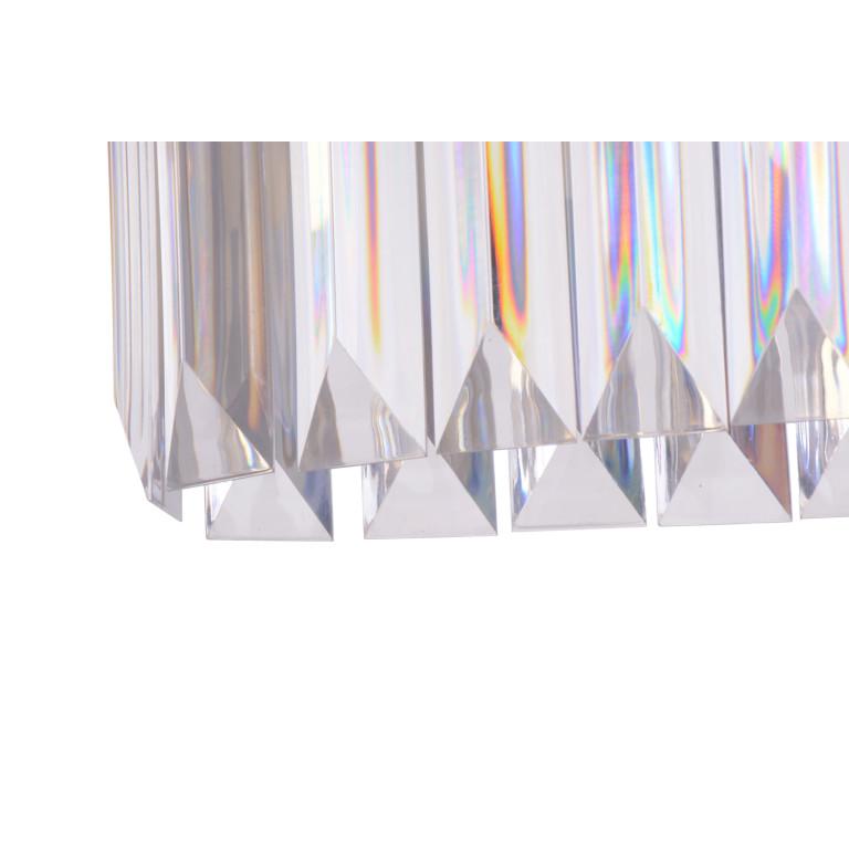 ROTONDO klasyk chrom+akryl lampa wisząca 570mm