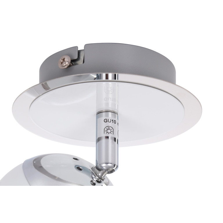 SAM-1 biała+chrom lampa
