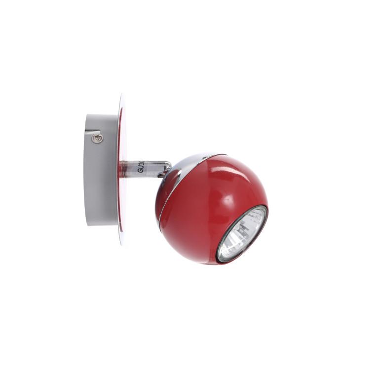 SAM-1 czerwona+chrom lampa