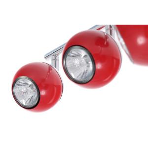 SAM-4 czerwona+chrom lampa