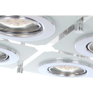 SANTIAGO-4 lampa plafon  LED GU10 4x6W b.ciepła