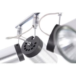 SIMON-4 aluminum+black lampa sufitowa spot 4xGU10