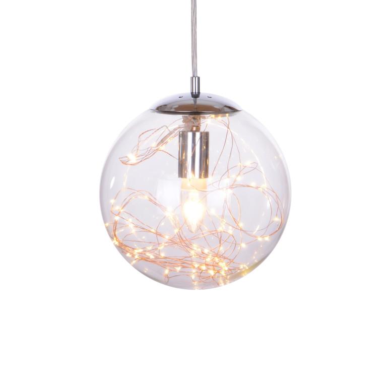TERRA-D miedź lampa wisząca E27+LED 250mm