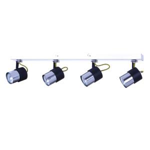 VERDI-4 czarny/chrom lampa sufitowa spot 4xGU10