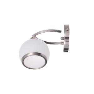 ZOE-1 satynowy nikiel lampa ścienna