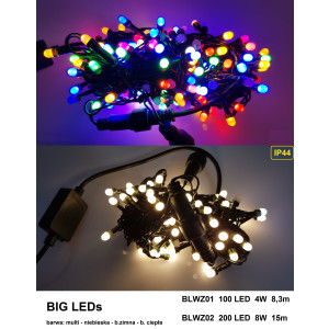 BLWZ01-1 l.choink 100LED BIG LED FLASH multi gn.
