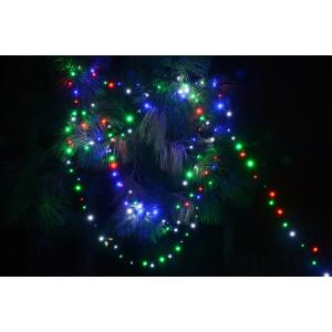 FL02-1 l.choinkowe zewn.200 LED multi FLASH gn.