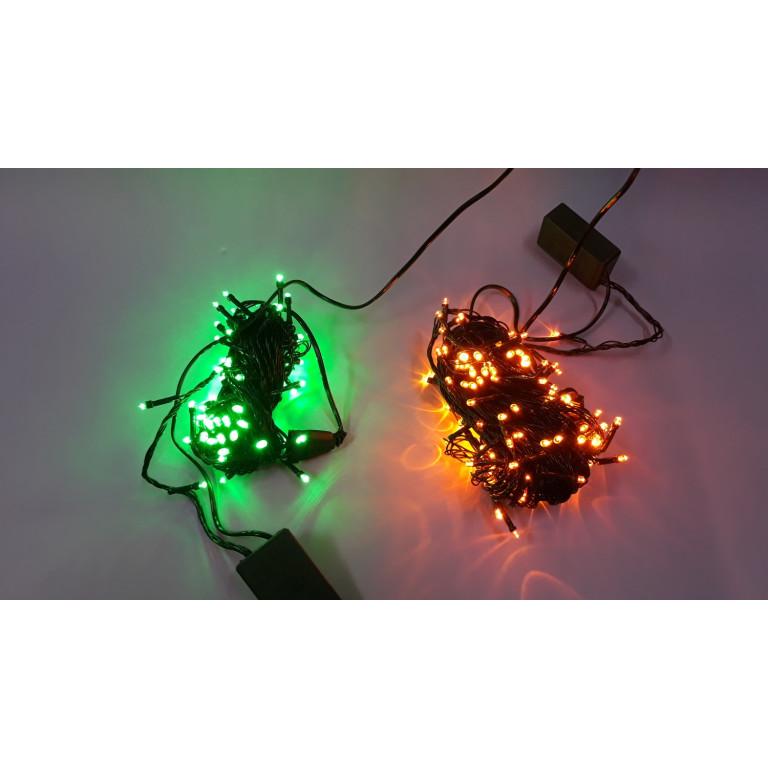 LM10-2 l.choinkowe wew.100LED zielony gniazdo+pr