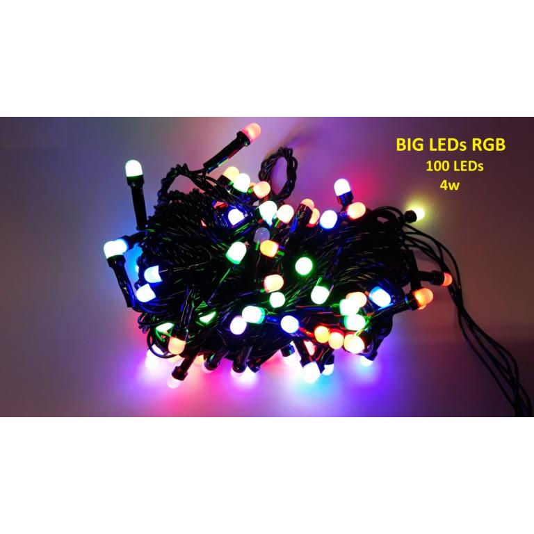 RGB01-1 l.choinkowe wewn.100LED RGB multi  gniazdo